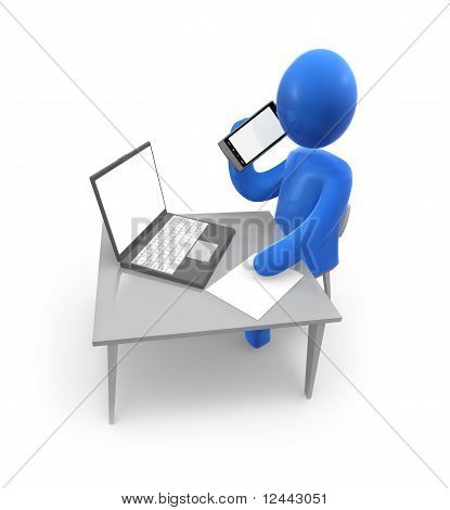 Businessman at work