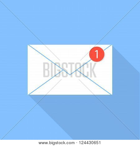 Envelope e-mail icon . Notification letter .