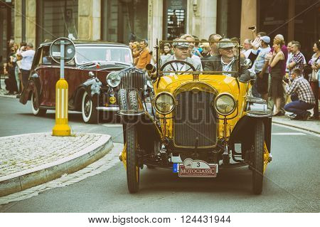 Wroclaw- August 18: Old Car On Motoclassic Show In Vintage Effect, In Wroclaw, Poland On August 18,