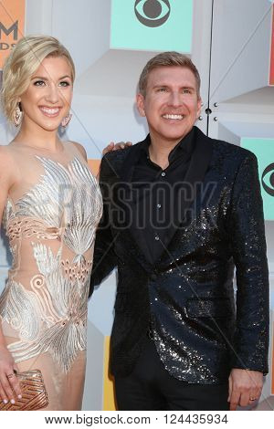 LAS VEGAS - APR 3:  Savanah Crisley, Todd Crisley at the 51st Academy of Country Music Awards Arrivals at the Four Seasons Hotel on April 3, 2016 in Las Vegas, NV