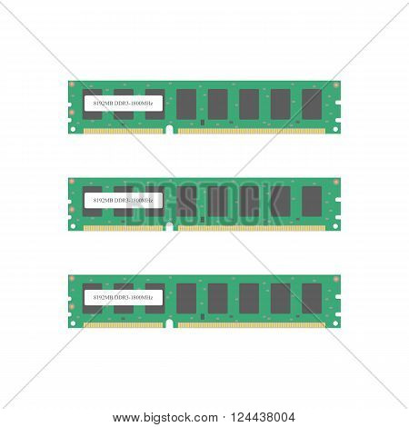 Random Access Memory icon. RAM. Computer memory. Vector illustration