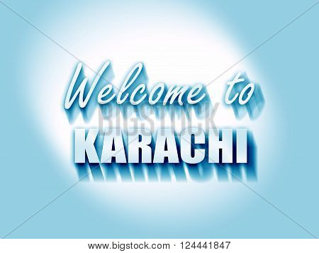 Welcome to karachi with some smooth lines