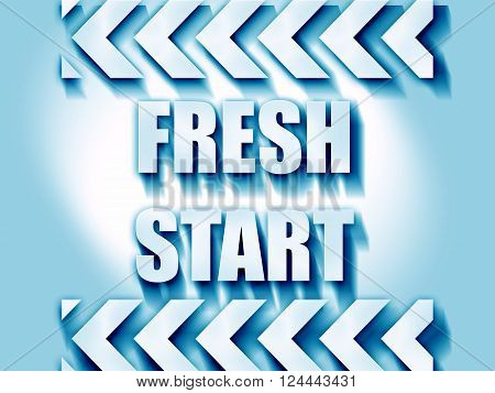 Fresh start sign with some smooth lines and highlights