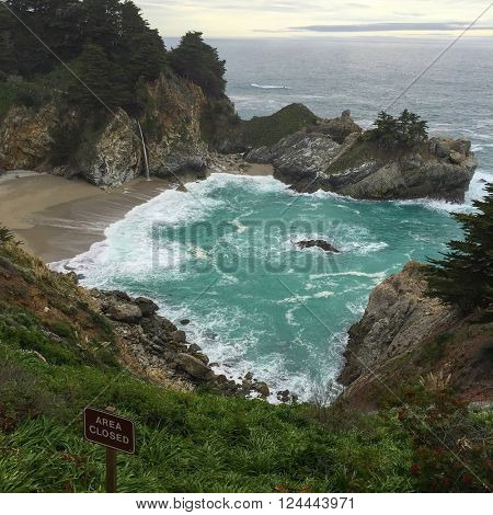 McVey Falls at Julia Pfeiffer Burns State Park