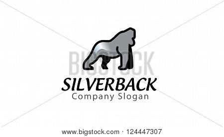 Silverback Creative And Symbolic Logo Design Illustration