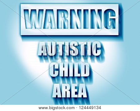 Autistic child sign with orange and black colors