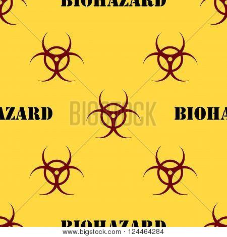 Seamless Patterns With Biohazard Symbol