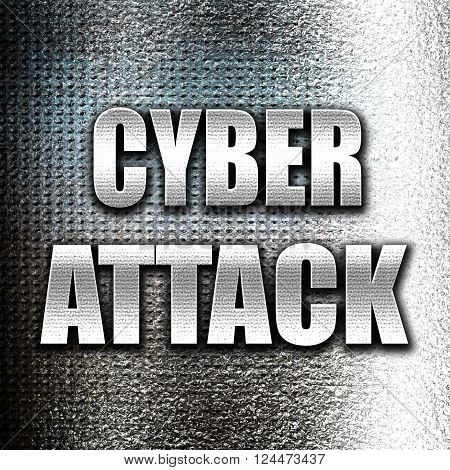 Grunge metal Cyber warfare background with some smooth lines