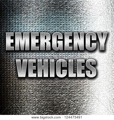Grunge metal Emergency services sign with yellow and black colors