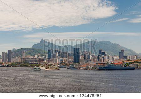 Rio de Janeiro, Brazil - December 20, 2012: The Navy and Cost guard of Brazil in display at Rio de Janeiro's Guanabara Bay.
