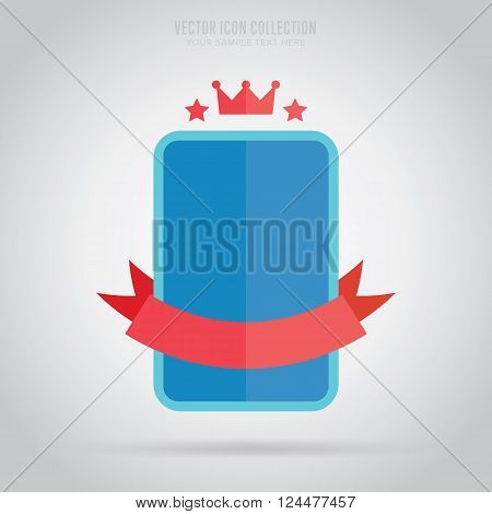Flat Vector Badge Vintage Design Abstract Template Retail New Business Web Sticker Blank Isolated