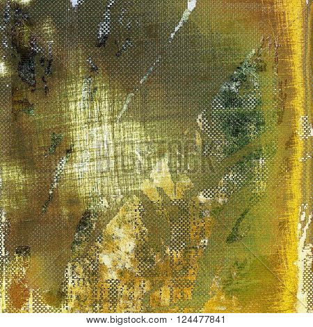 Vintage style designed background, scratched grungy texture with different color patterns: yellow (beige); brown; green; white; gray