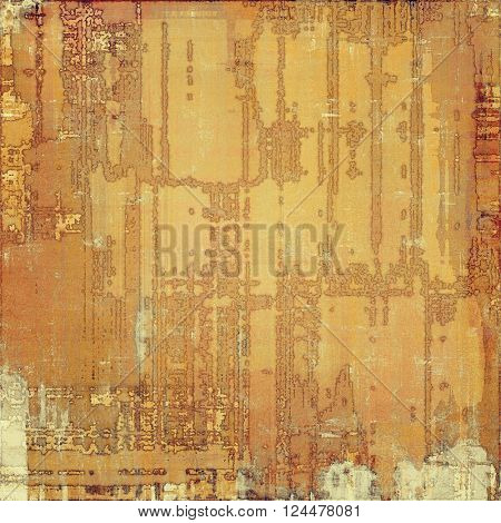Colorful abstract retro background, aged vintage texture. With different color patterns: yellow (beige); brown; red (orange); gray