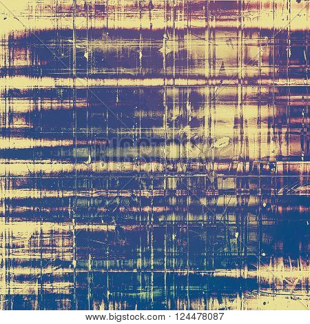 Old vintage backdrop. Original background or aged texture with different color patterns: yellow (beige); blue; purple (violet); pink; gray