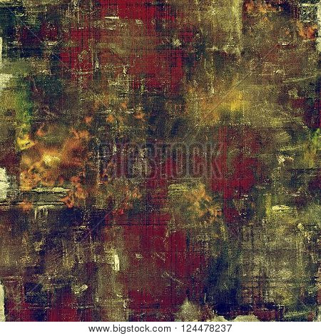 Vintage background, antique grunge backdrop or scratched texture with different color patterns: yellow (beige); brown; green; blue; purple (violet); pink