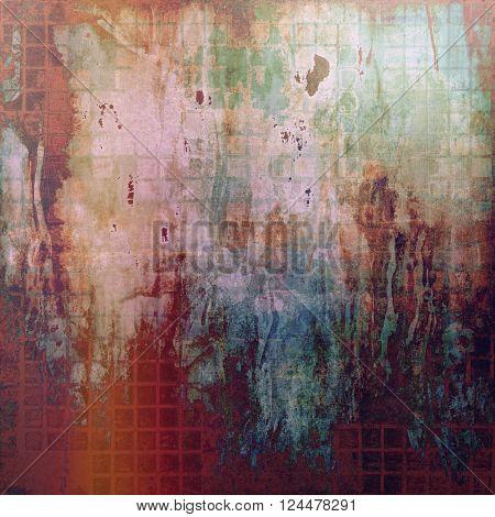 Grunge texture, decorative vintage background. With different color patterns: brown; green; blue; red (orange); purple (violet)