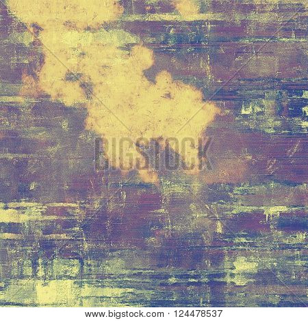 Art grunge texture for creative design or scrap-book. With vintage style decor and different color patterns: yellow (beige); brown; blue; purple (violet); gray