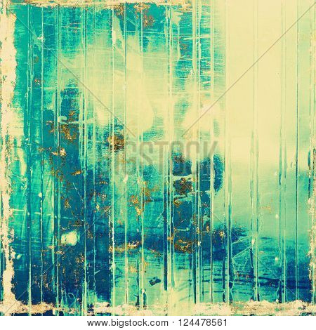Art grunge texture for creative design or scrap-book. With vintage style decor and different color patterns: yellow (beige); brown; green; blue; cyan
