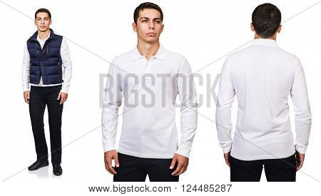 Young man in fashion concept isolated on white