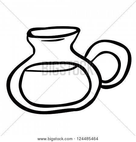 black and white lemonade jug cartoon