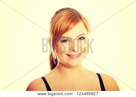 Portrait of overweight woman