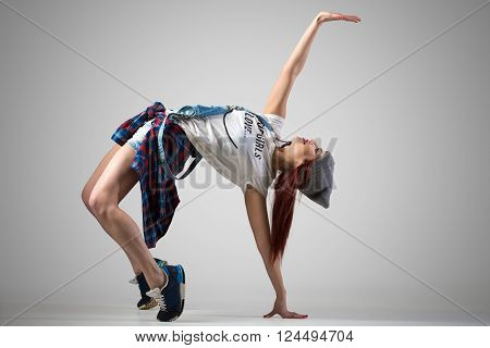 Dancer Girl Doing Bridge Exercise