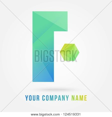 f 3d logo design with 3d cube created by adobe illustrator used nice gradient on it can re sizes  up to your target this log is useful for which letter starting with F