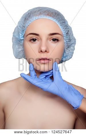 Beauty Woman Face Surgery Close Up Portrait