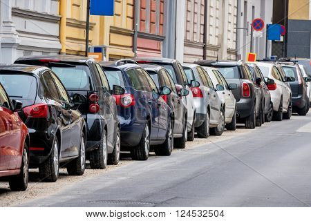 cars parked on the roadside