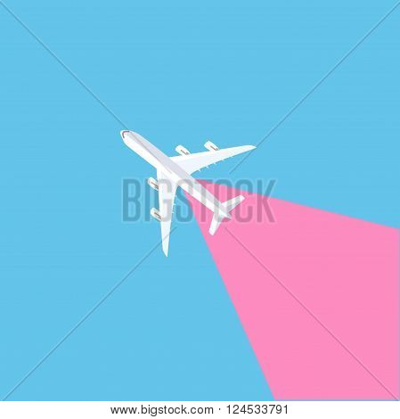 Plane icon. Plane on a blue background. plane vector. plane in the sky