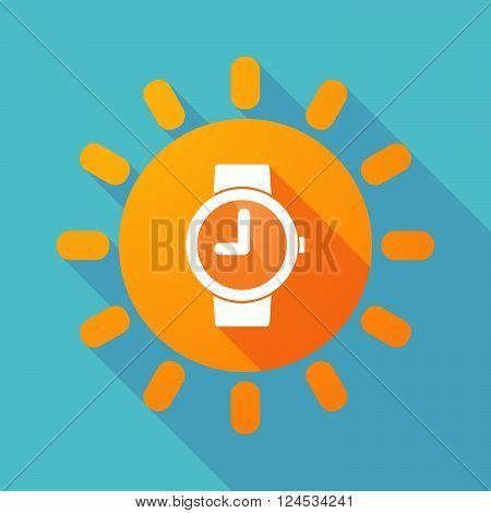 Long Shadow Sun With A Wrist Watch