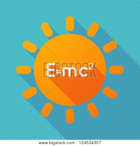 Long Shadow Sun With The Theory Of Relativity Formula
