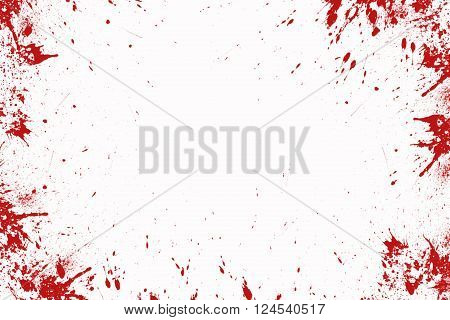 Blood splatter in front of a white background Halloween ** Note: Soft Focus at 100%, best at smaller sizes