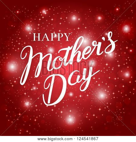 Happy Mothers Day hand lettering calligraphy . Vector background may be used as greeting card for your mum