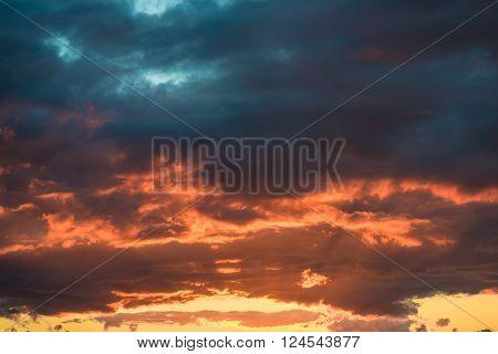 Landscape Mountain Early Morning Sky Scene