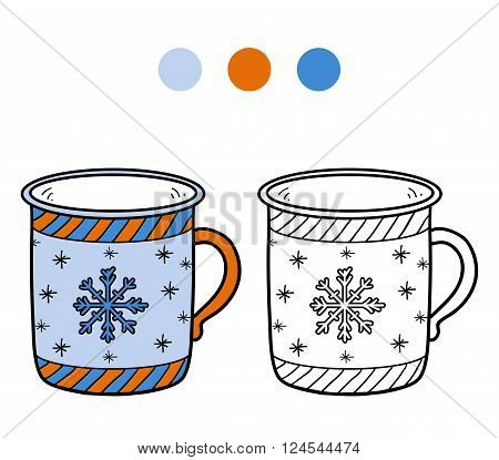 Coloring Book, Coloring Page For Children, Cup