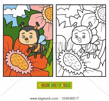Coloring Book (bee And Background)