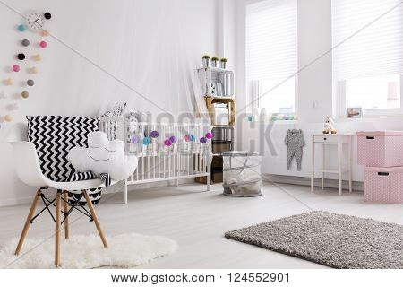 Modern Vibe In A Baby Room