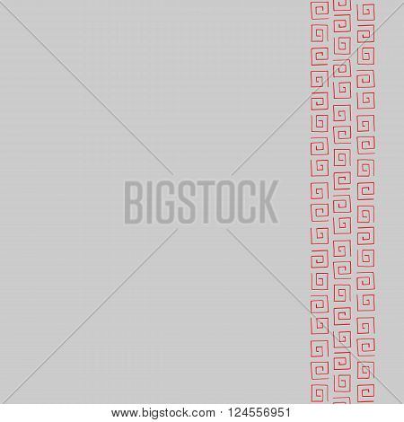 Seamless pattern frame for text with red curlicues