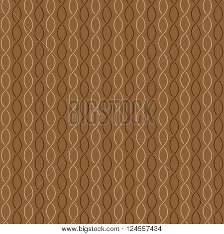 Seamless pattern broun waves on brown background