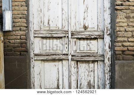 antique wooden door in old Tbilisi, Georgia