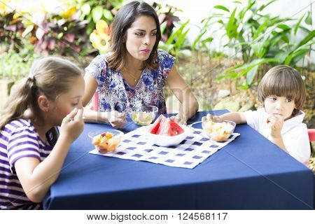 Lovely Family Having Picnic