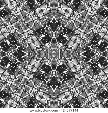 Geometric Collage Grunge Seamless Pattern