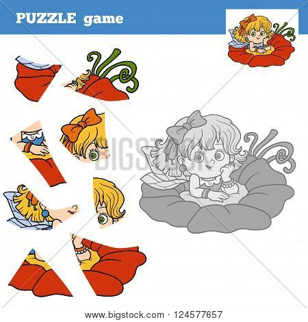 Puzzle Game For Children, Little Fairy