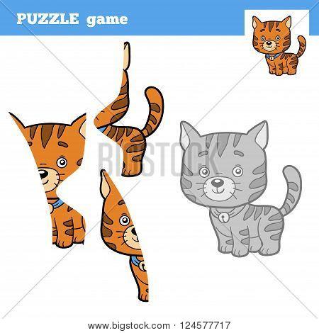 Puzzle Game For Children, Cat