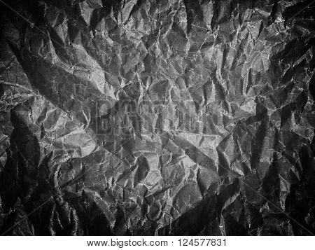 A Crumpled Sheet Of Paper Black