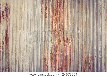 A rusty corrugated iron metal texture for any design