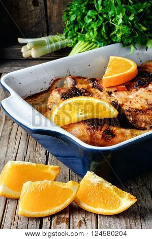 Baked Chicken With Orange