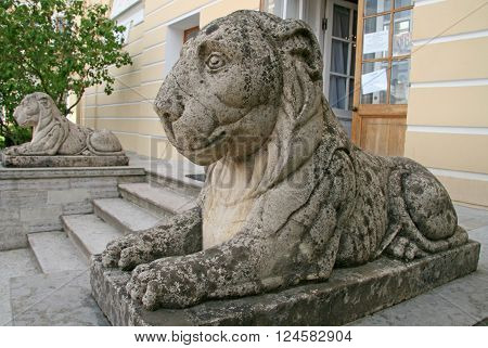 Lion At The Side Wing Of The Pavlovsk Palace, Pavlovsk, Russia