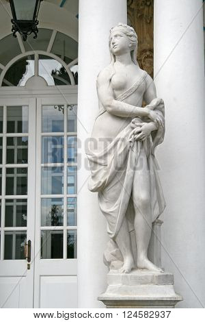St. Petersburg, Tsarskoye Selo, Russia - June 26, 2008: The Sculpture At The Catherine Palace